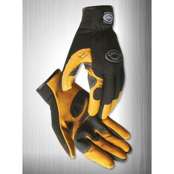 Caiman Leather Goat Grain Gold Gloves w Open cuff - 12/pk - 1947