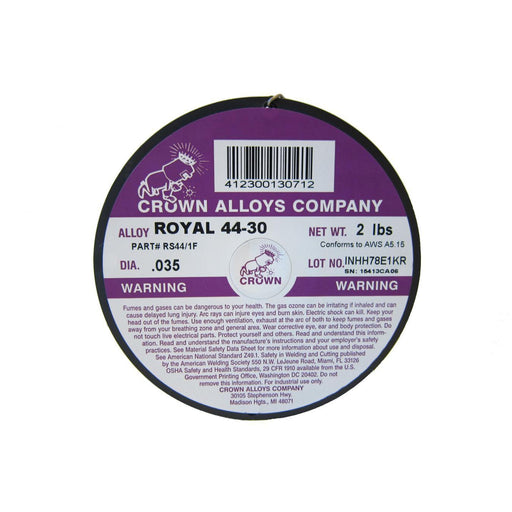 Crown Alloys ROYAL 44-30 .035x2# MIG Welding Wire 2lb Spool - RS44/1F