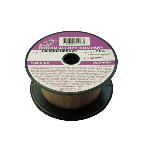 Crown Alloys SIL-BRONZE .030x2# MIG Welding Wire 2lb Spool - CSSIB/1E