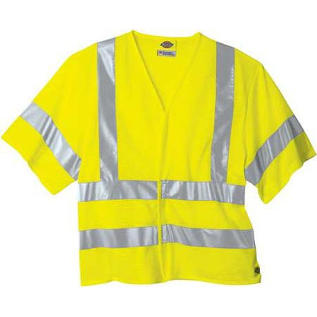 Dickies - ANSI Class 3 Short Sleeve High Visibility Safety Vest - VE202