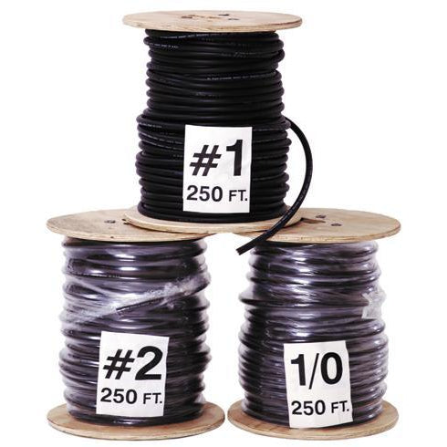Direct Wire Bulk Size 1/0 - Black - BULK10