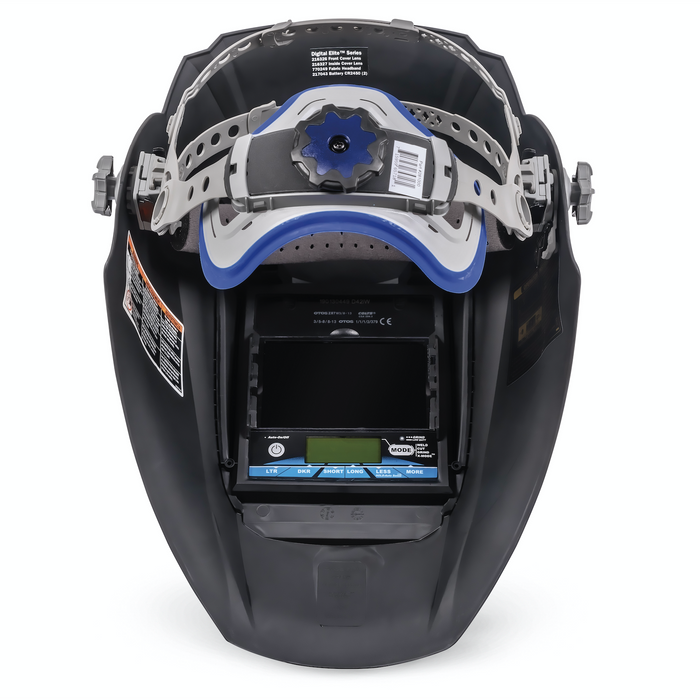 Miller Digital Elite Black headgear and inside view - 281000