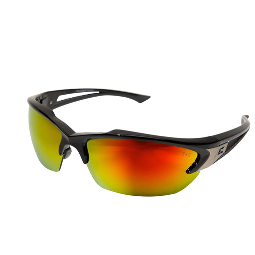 Edge Eyewear - Khor Safety Glasses - Black/Agua Red - SDKAP119
