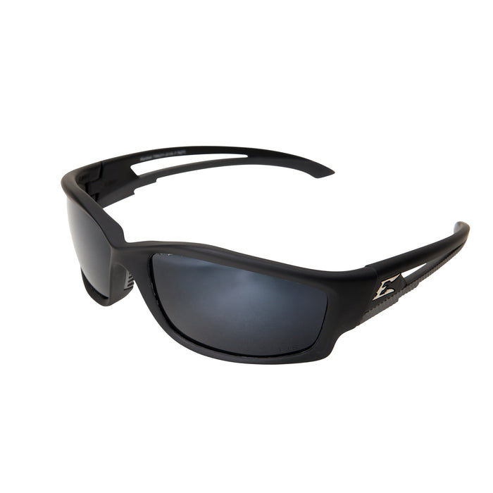 Edge Eyewear Kazbek Polarized Safety Glasses Blk/Slvr M - TSK21-G15-7
