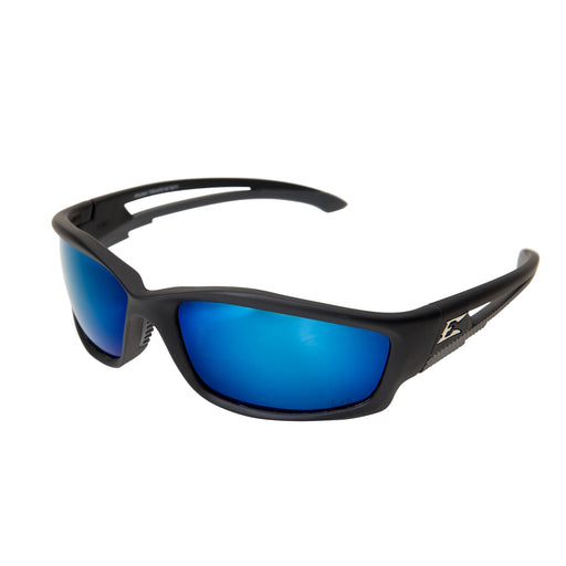 Edge Eyewear - Kazbek Polarized Safety Glasses - Black/Blue - TSKAP218