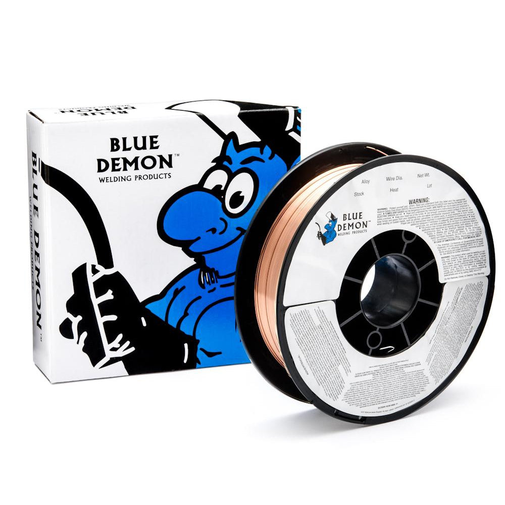 "Blue Demon ER70S-6 .035"" Mild Steel MIG Wire, 11# - ER70S6-035-11"