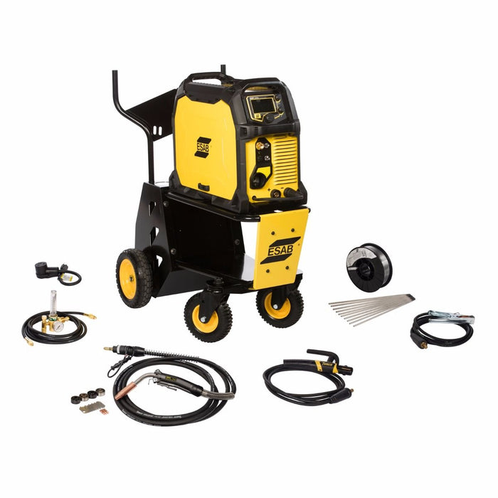 Everything included with the ESAB Rebel 235ic 3-in-1 Pkg w/cart - 0558012704