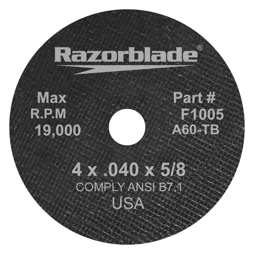 Flexovit cut-off wheel Type 1 - 4 X.040X5/8 stainless - 10/bx - F1005