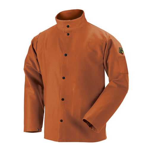 Black Stallion TruGuard 200 FR Cotton Welding Jacket, Brown - FB2-30C