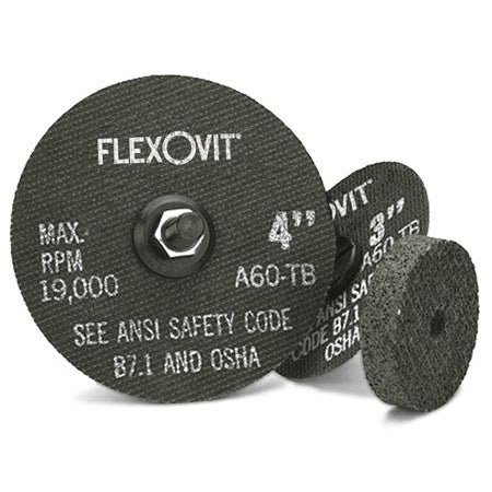 "Flexovit Type 1 Cutoff Wheel - 4"" X .035 X 3/8"" - Box of 100 - F0410"