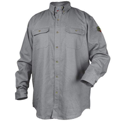 Black Stallion FR Cotton Work Shirt, Gray - WF2110-GY