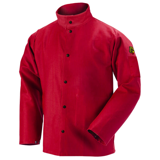 Black Stallion Welding Jacket - TruGuard 200 FR Cotton, Red - FR9-30C