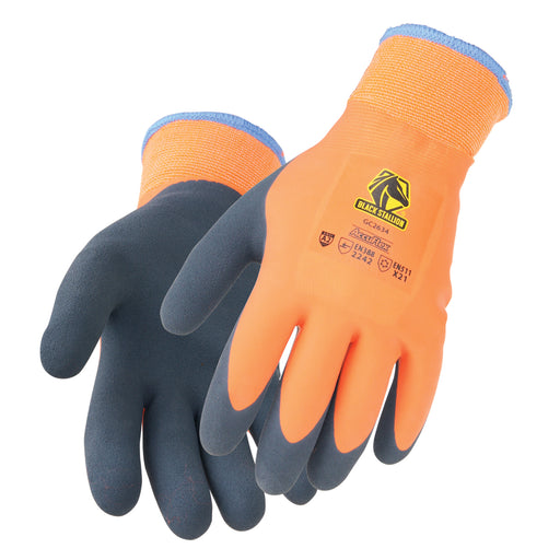 Black Stallion AccuFlex Double Latex Terry-Lined Winter Knit Glove - GC2634-OA