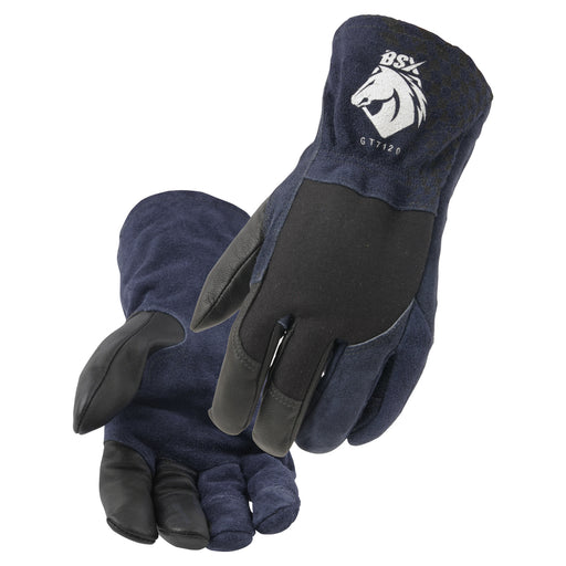 Black Stallion Grain Goatskin & FR Stretch Knit Cotton TIG Glove - GT7120-NB