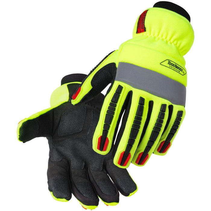 Black Stallion ToolHandz Water Resistant Hi-Vis Anti-Impact Winter Glove - GW1010