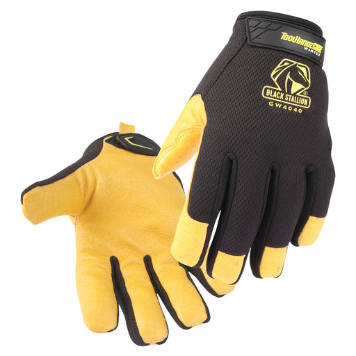 Black Stallion ToolHandz Core Pig Grain Leather Palm Winter Mechanics Gloves- GW4040-BY