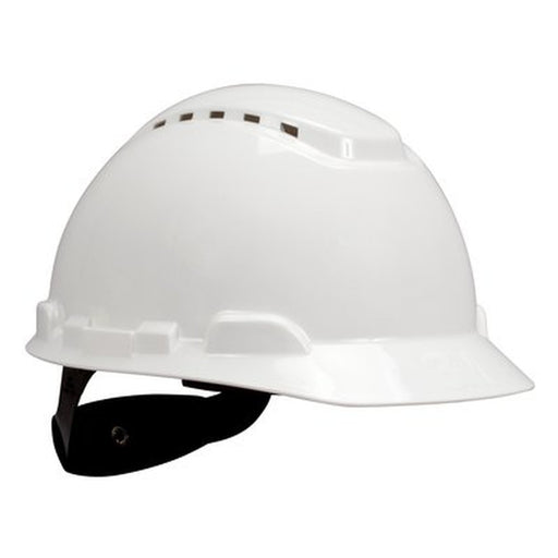 3M Vented Hard Hat w/ UVicator, 4-Point Ratchet Suspension - H-701V-UV