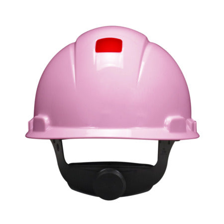 3M Pink Hard Hat w/ UVicator, 4-Point Ratchet Suspension - H-713R-UV
