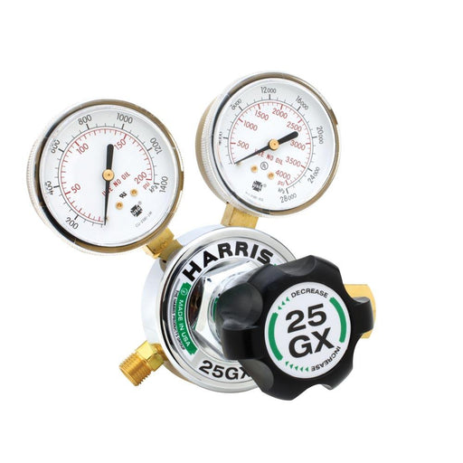 Harris 25GX-15-300 M-HD Acetylene Regulator w Knob - 3000350