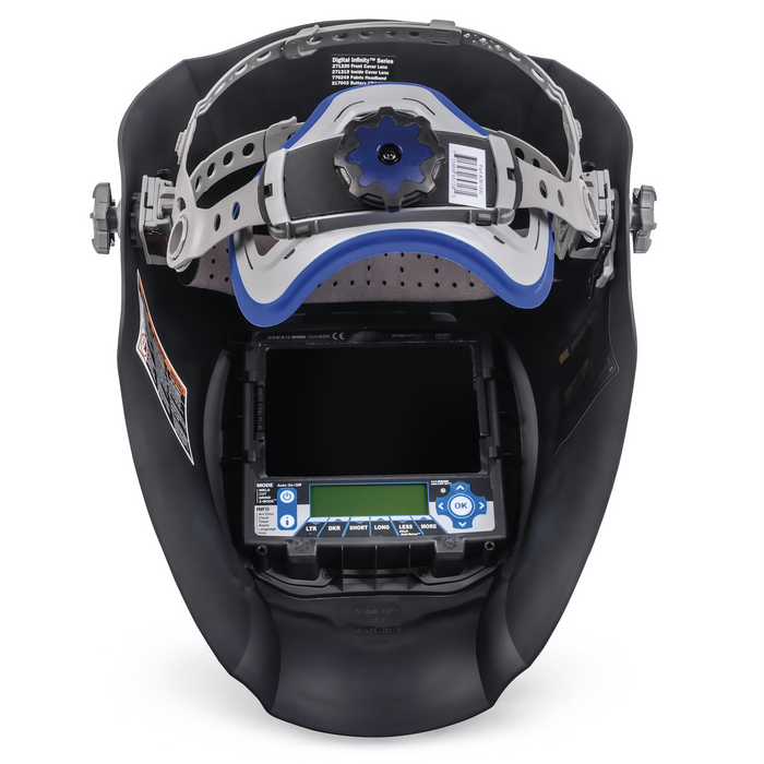Miller Digital Infinity Black headgear and inside view - 280045