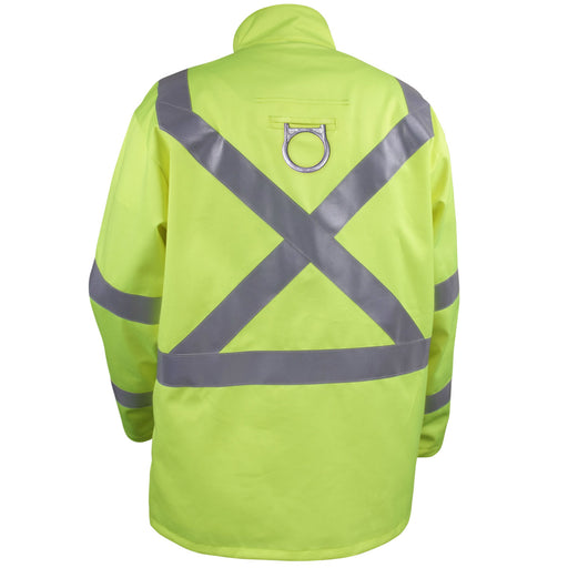 Black Stallion Safety Welding Jacket w/ FR Reflective Tape, Safety Lime - JF1012-LM