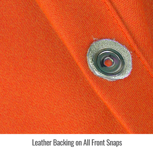 Black Stallion Stretch-Back FR Cotton Orange Welding Jacket - JF1625-OR