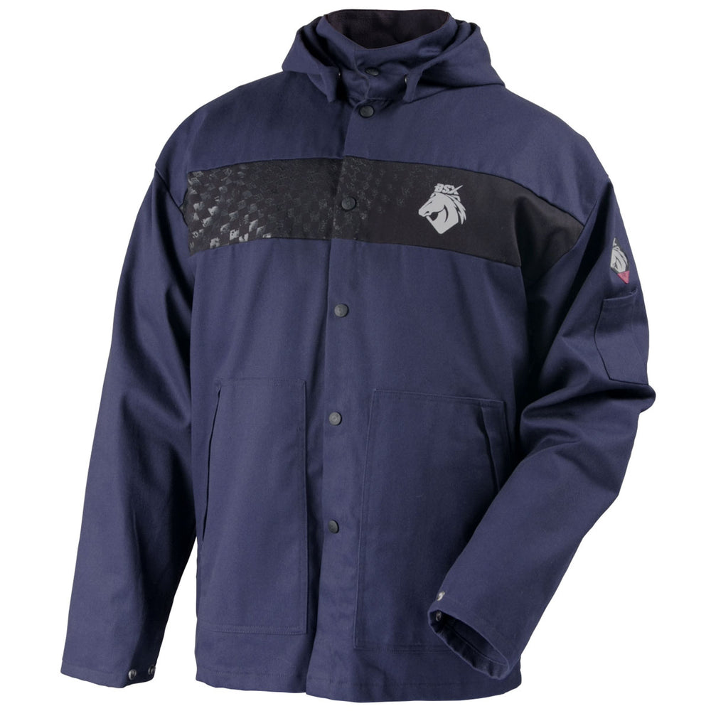 Black Stallion Hooded Welding Jacket - JF1633-NB