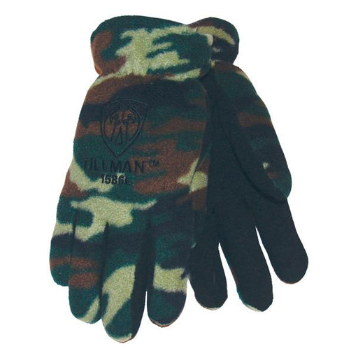 Tillman Camo Fleece/Cowhide Winter Gloves X-Large - 1586XL