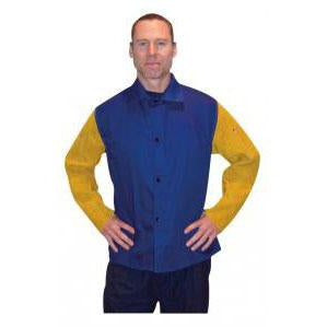 "Tillman 30"" Blue Welding Jacket with Leather Sleeves, 5X - 92305X"