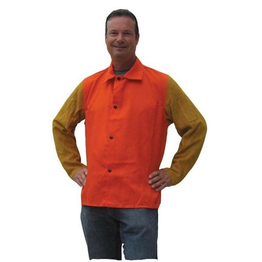 "Tillman 30"" Orange Welding Jacket with Leather Sleeves, 2X - 9230D2X"