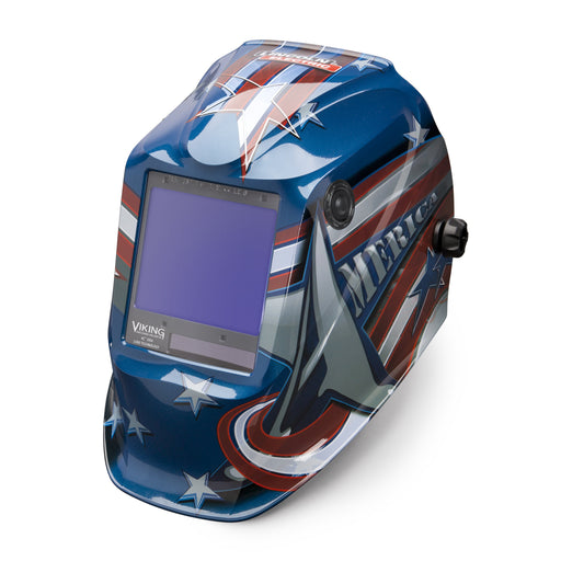 Viking 3350 4C Welding Helmet All American from an angle K3175-4