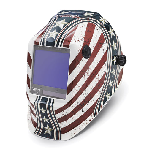 Viking 3350 4C Welding Helmet Daredevil from an angle K3683-4