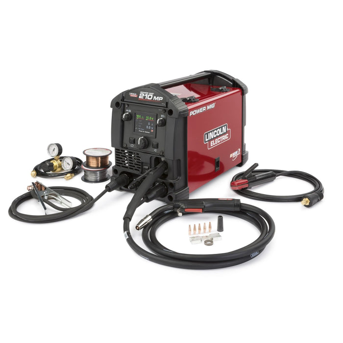 Lincoln Power MIG 210 MP Multi-Process Welder- k3963-1