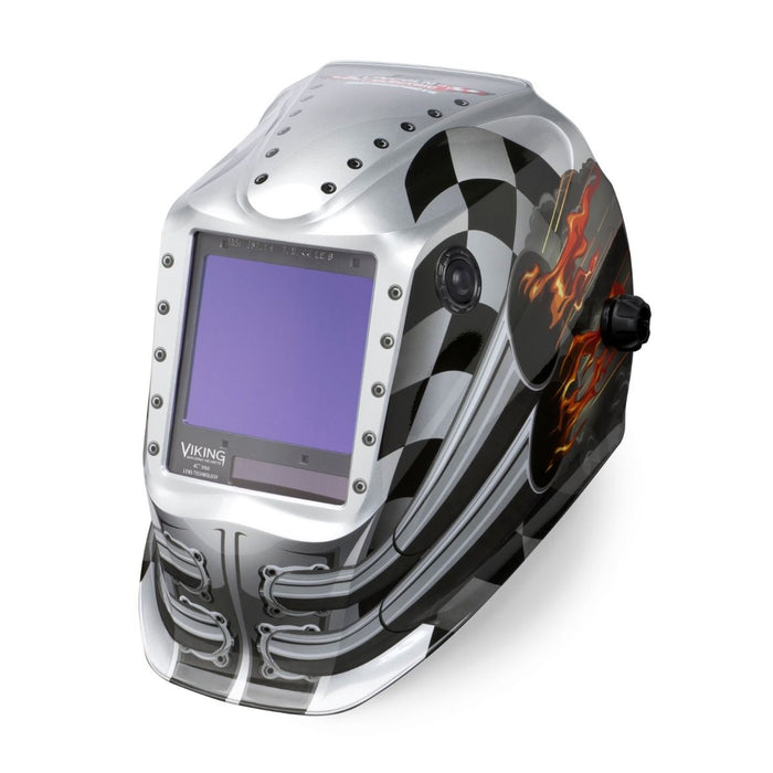 Viking 3350 4C Welding Helmet Motorhead from an angle K3100-4