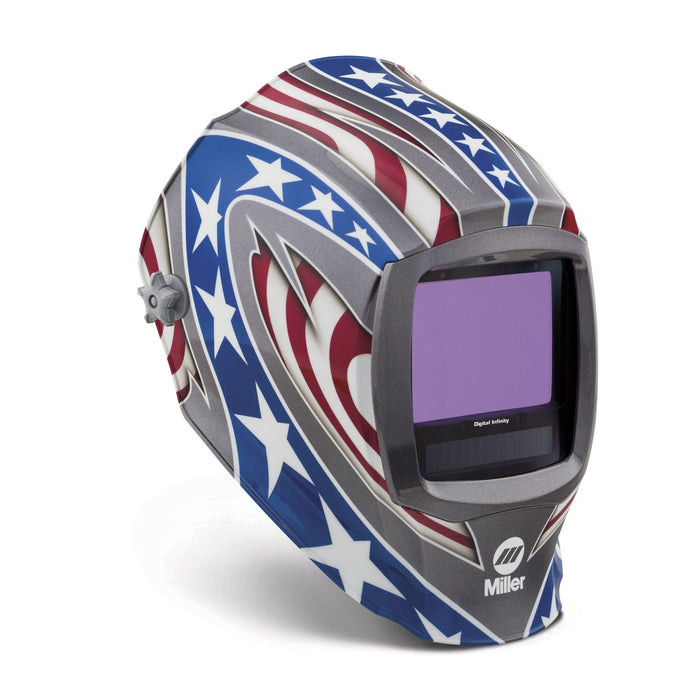 Miller Digital Infinity Stars & Stripes Welding Helmet from the side 280049