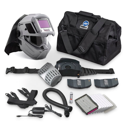 Miller T94i-R PAPR Helmet package with bag, battery and accessories