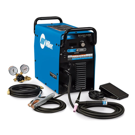Miller Diversion 180 AC/DC TIG Welder w/ Foot Pedal- 907627