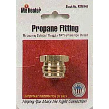 Mr Heater - LP Throwaway Cylinder Adapter - Throwaway Thread X 1/4 FPT - F276140