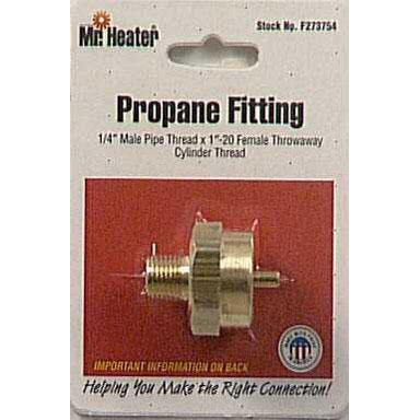 "Mr Heater - LP Female Throway Adapter 1"" X 1/4 MPT - F273754"