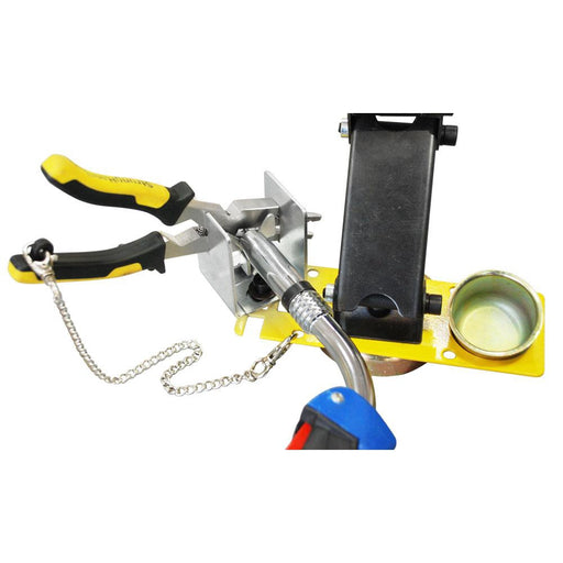 Strong Hand MIG Torch Rest with Cable Hanger & Deluxe Accessory Plate, Adjustable Height - MRM300