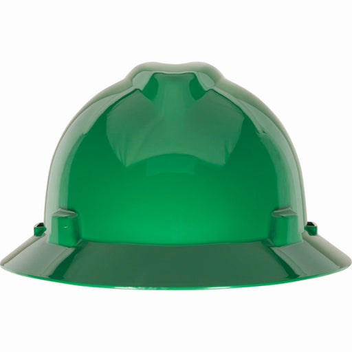 MSA V-Gard Brimmed Hard Hat w/ Staz-On Suspension, Slotted - 454735