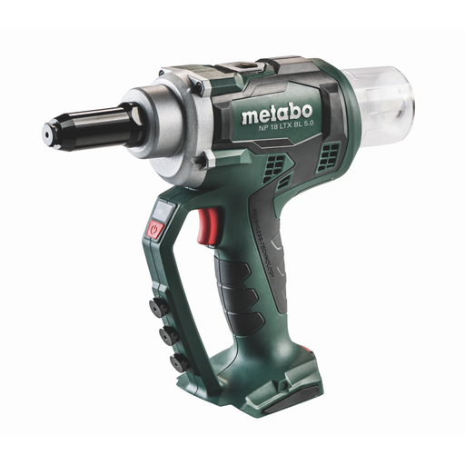 Metabo NP 18 LTX BL 5.0 Cordless Blind Rivet Gun - 619002890