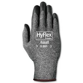 Ansell Hyflex Palm Coated Nitrile Foam Gloves 12/pk - 11-801