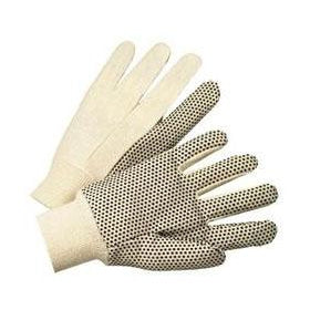 Best Welds Cotton Canvas Black PVC Dot Heavy Nap Gloves - 10 oz - 12/case - 1000