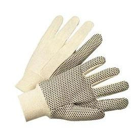 Best Welds Cotton Canvas Black PVC Dot Gloves - 8 oz - 12/case - 1005