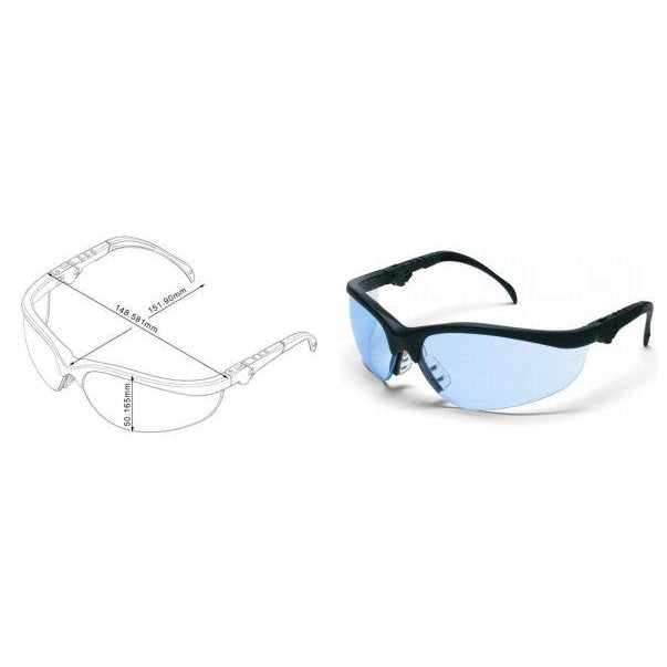 Klondike Safety Glasses Metal Frame In/Out Blue - KD313