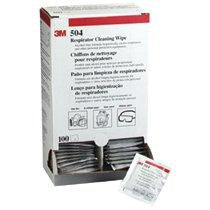 3M Respirator Cleaning Wipes - 100/box - 504