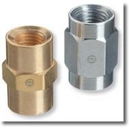 "Western Pipe Thread Couplings, Female To Female 1/4"" to 1/4"" - BF-4HP"