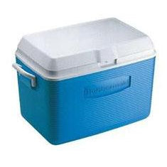 Rubbermaid - 48qt Capacity Volume Victory Two Handle Ice Chest - Pacific Blue - FG2A15-02-MODBL