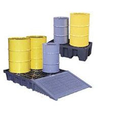 Justrite - Gator Spill Control Pallets - 4 Drum, square - 28254